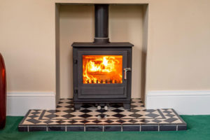 Wood Burning Stove in the Lounge