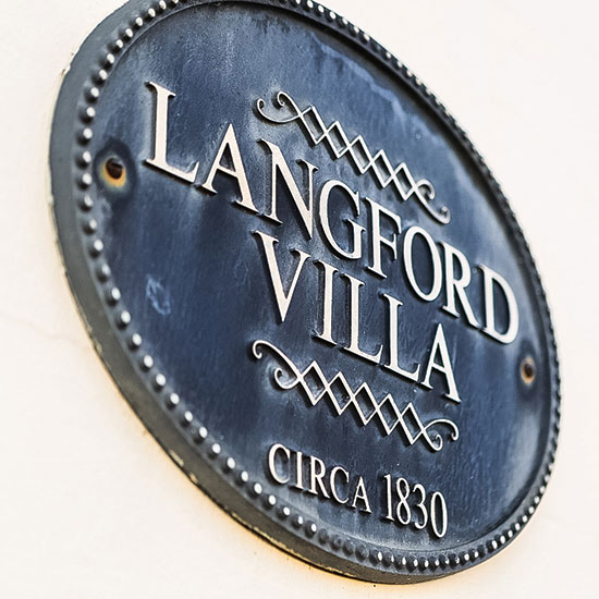 Langford Villa Plaque, Circa 1830
